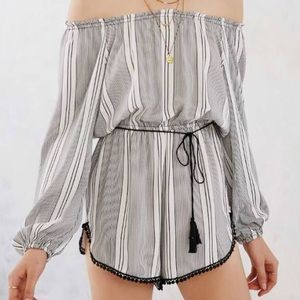 Urban Outfitters Ecote stripped romper size small